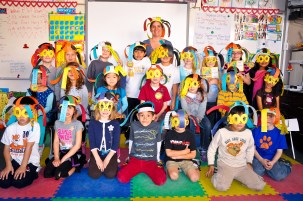 Mrs. Richards class says the 100th Day is 100% Fun!