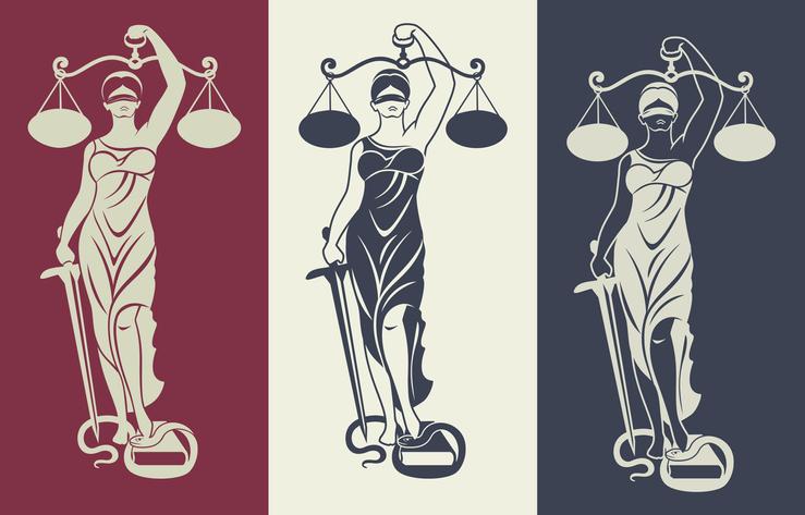 Lady Justice Illustration
