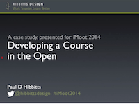Paul Hibbitts Developoing a Course in the Open