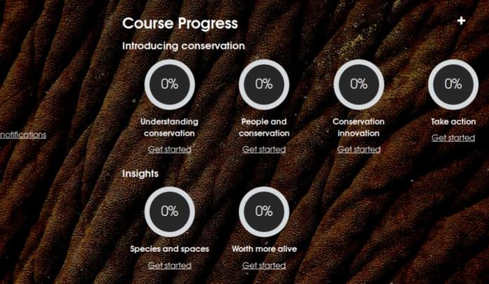 United For Wildlife 01 Course Progress