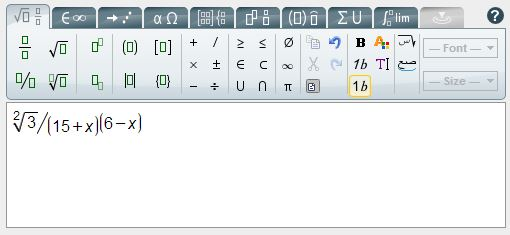 Screenshot of the standalone editor not integrated with Atto