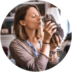 lauren mudrock and her cat tucker