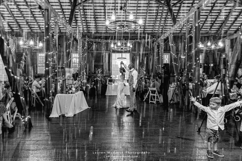 raining during first dance