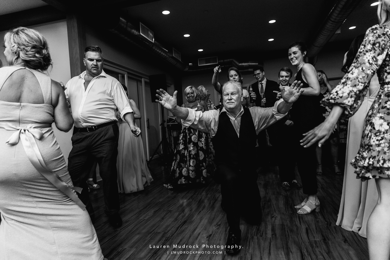 wedding dance floor candid