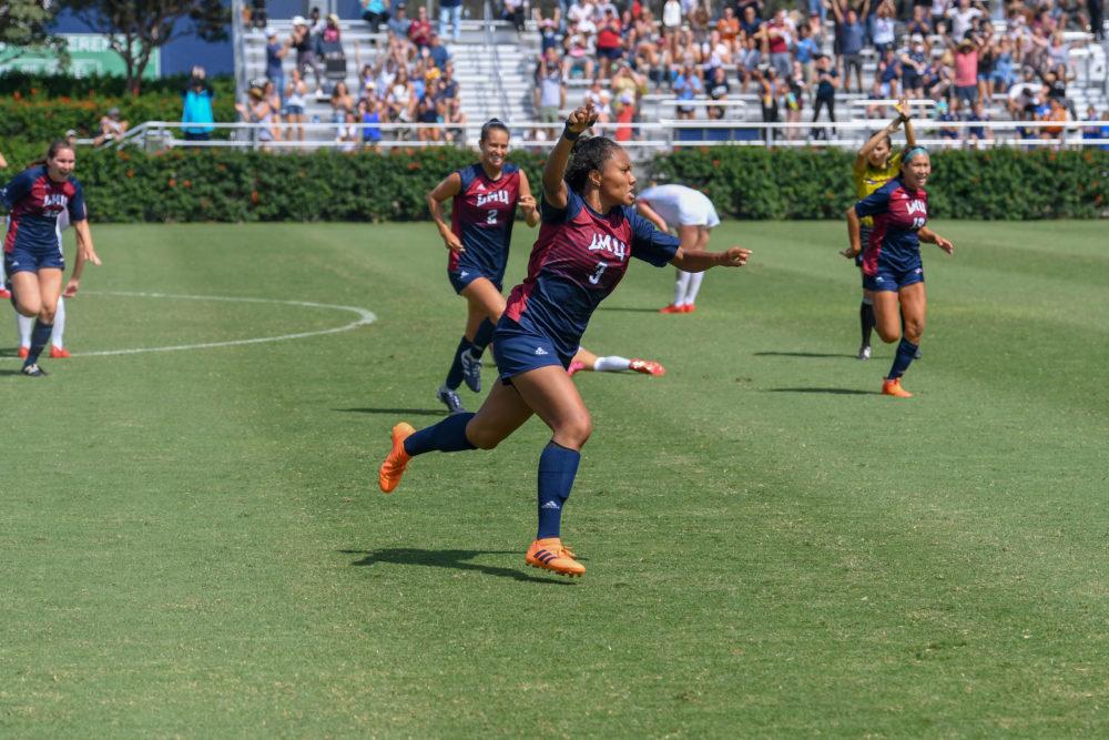Sarina Bolden - Game Winner - LMU Women's Soccer vs. Northeastern - Aug. 26, 2018