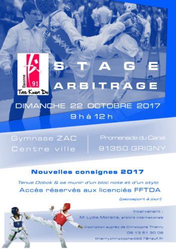 Affiche Stage arbitrage 2017-10-22 VO4