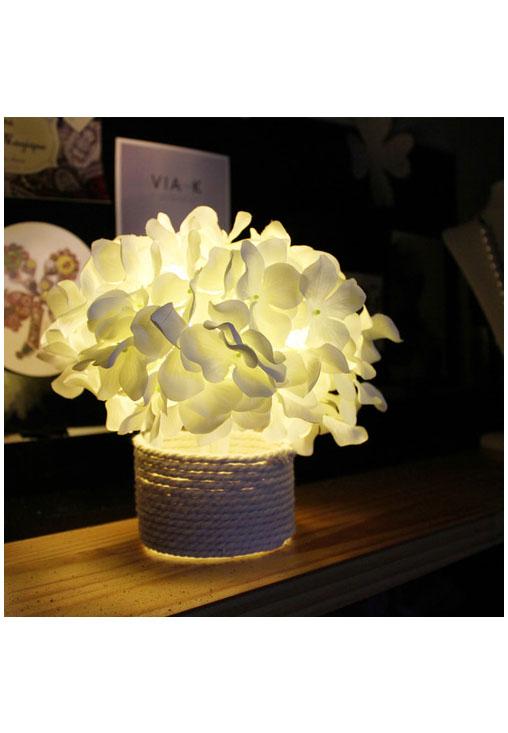 White Hydrangea LED ホワイト