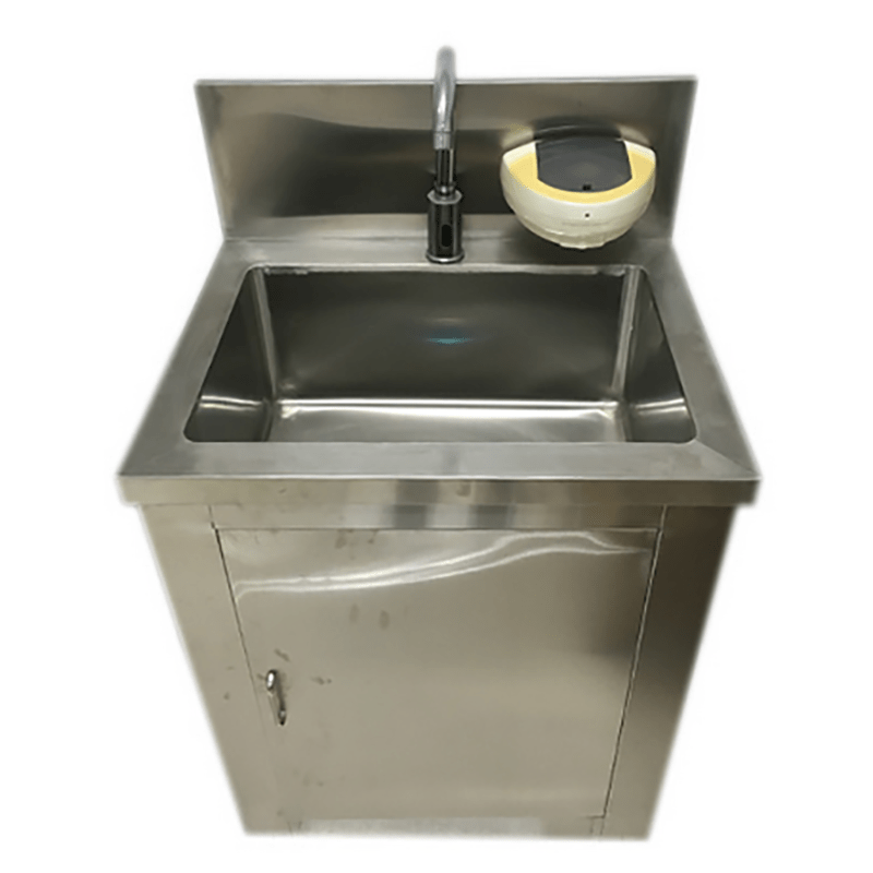 stainless steel hand washing sink for