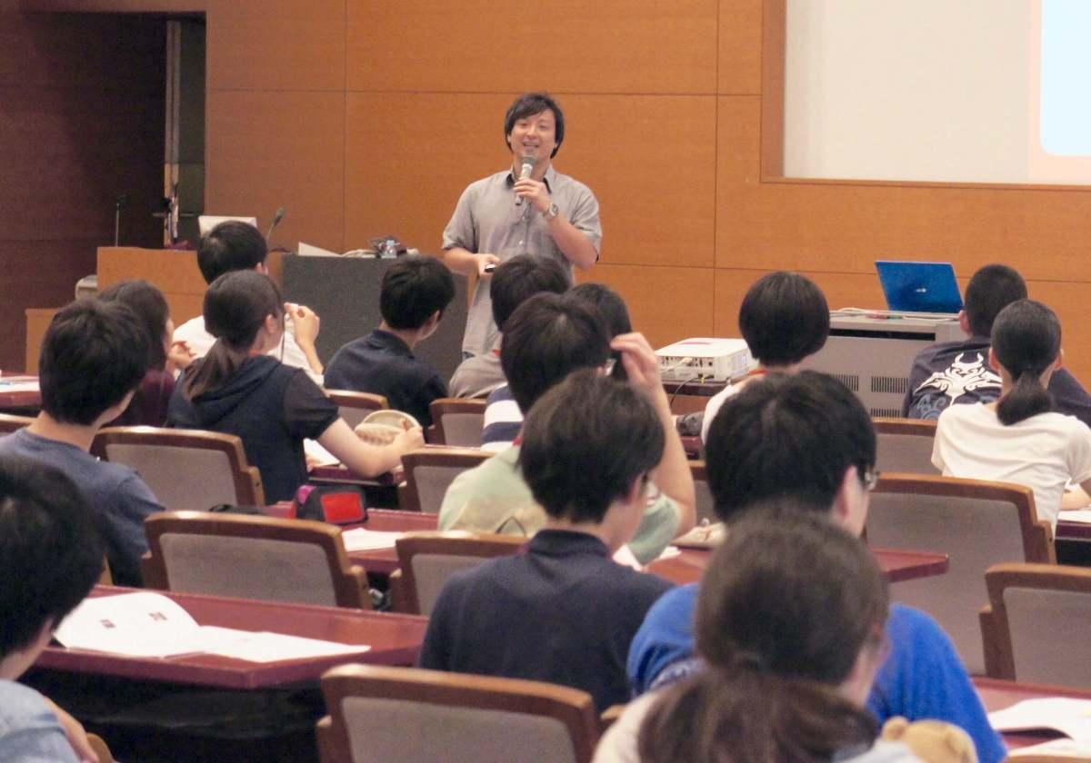8/5 きらめき未来塾にて高校生68人を対象にリバネスCEO丸幸弘が講演しました。