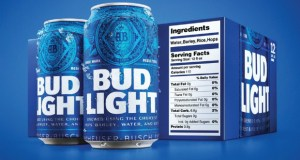 Bud Light Beer Is The First Beer Company to Add Nutritional Facts to Packaging