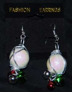 Snowballs w/Bells Earrings