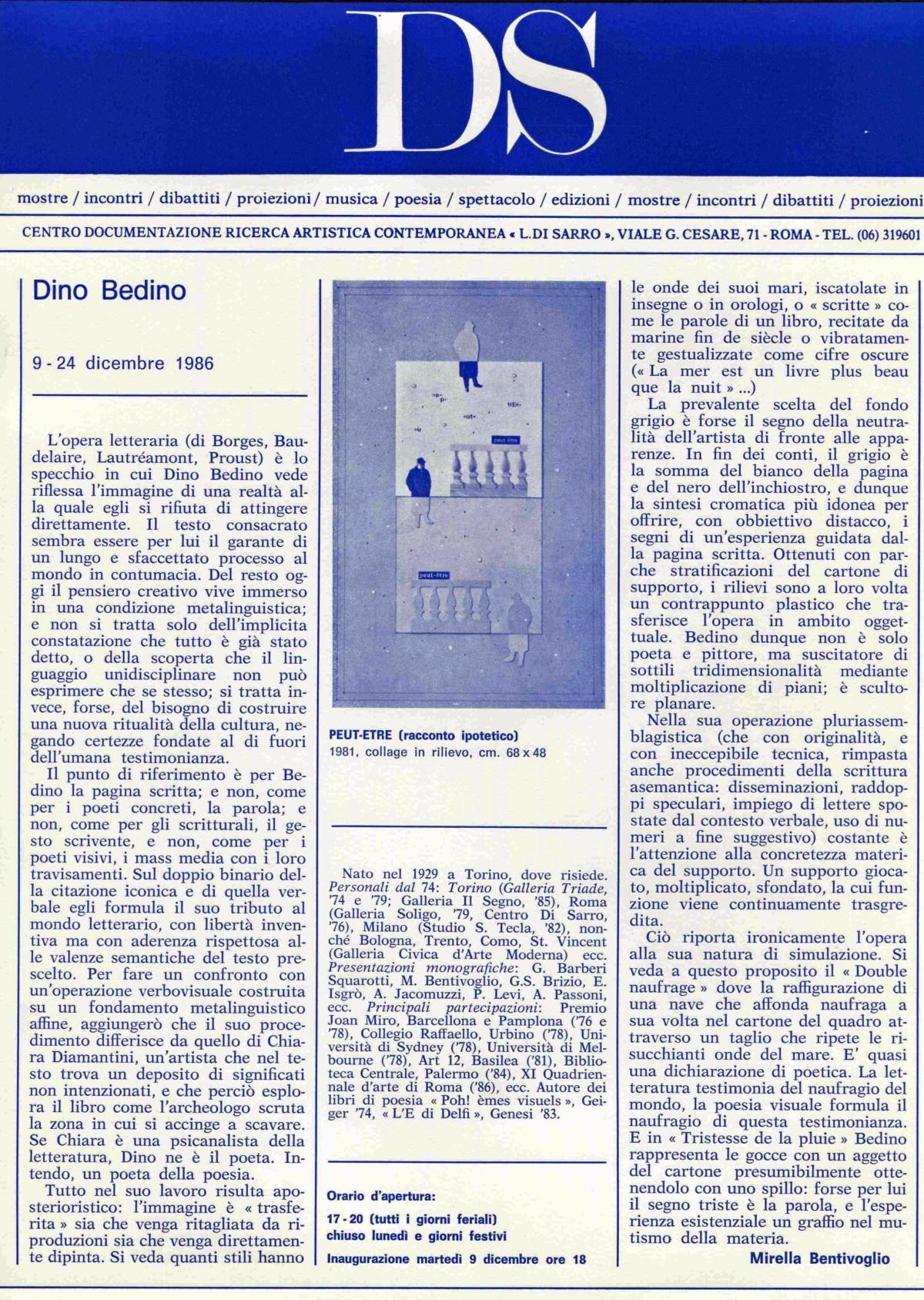 Dino Bedino 9 - 24 dicembre 1986