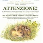 il cartello che nei giorni scorsi è stato posizionato negli ambienti naturali tra il Lario ed il Ceresio a cura delle Guide Naturalistiche della Riserva del Lago del Piano
