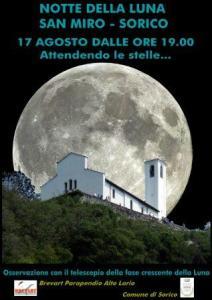 la locandina della Notte della Luna
