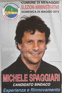 Michele Spaggiari lista Vivere Menaggio Squadra Bobba