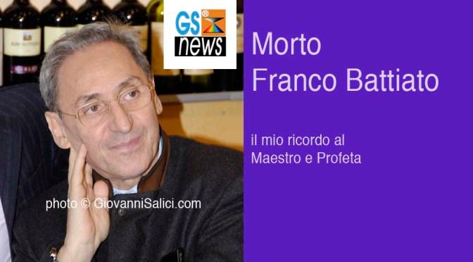 Franco Battiato è morto