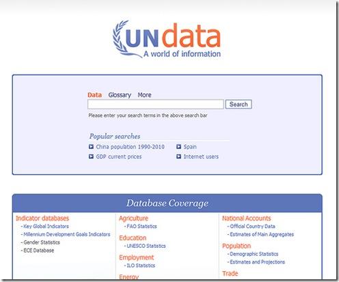 UNdata, le Nazioni Unite aprono i loro DataBase al pubblico