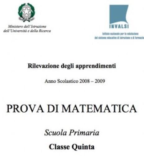 Prove Invalsi Scuola Primaria Anno 20082009 Osmosi Delle Idee