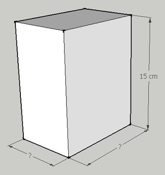 Geometria solida, problema di terza media risolto