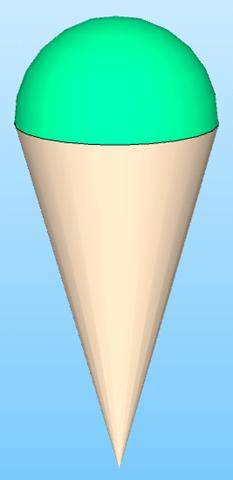 cono gelato sfera