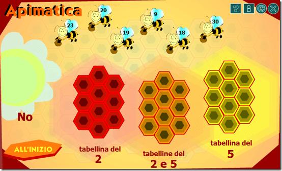 L'ape ti insegna a riconoscere i multipli e ad imparare le tabelline