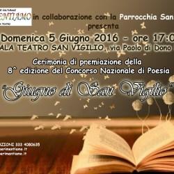 """Concorso Nazionale di Poesia """"Giugno di San Vigilio"""" 2016"""