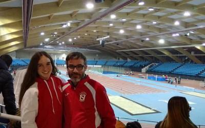 Claudia Gallego en el Campionat d'Espanya Promesa de Pista Coberta