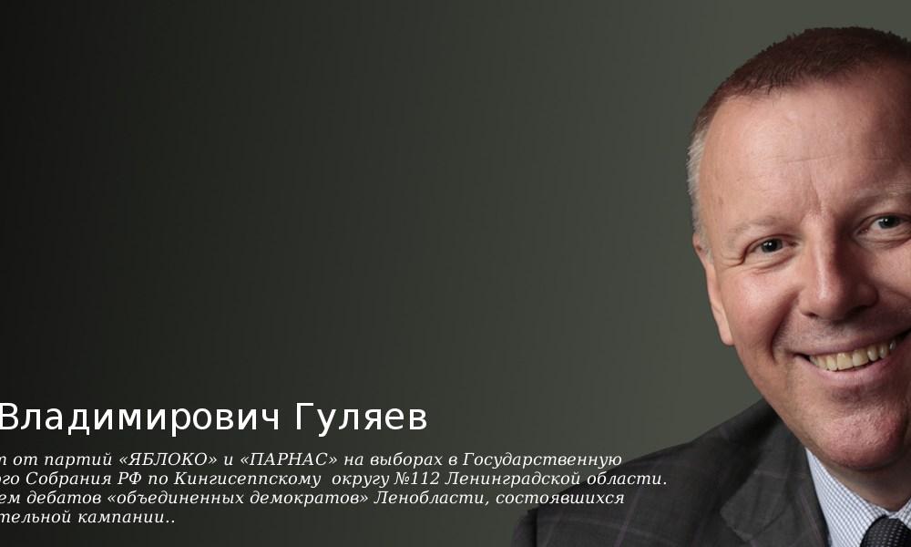 Интервью кандидата в депутаты Государственной думы Сергея Гуляева на ТераСтудии