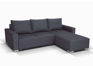Nelly Corner Sofa in dark grey Bahama 32