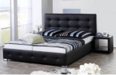 Bed Joey Black (180x200cm) - including mattress - (Bundle Product)