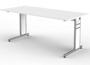 Office desk height adjustable, 140x80cm