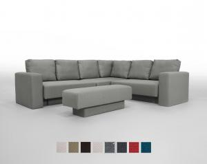Corner Sofa set Feydom Choice 5 Premium Modular Sofa -  Grey Fabric: FF-14 oder ET-14