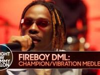 "You Need to Watch Fireboy DML's performance of ""Champion"" & ""Vibration"" on  Jimmy Fallon's ""The Tonight Show"" | BellaNaija"
