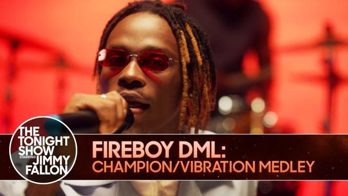 "You Need to Watch Fireboy DML's performance of ""Champion"" & ""Vibration"" on  Jimmy Fallon's ""The Tonight Show""   BellaNaija"