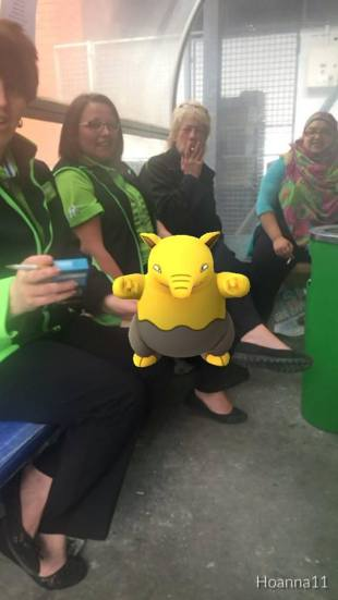At this point I think he just likes photobombing. Drowzee invades a smoke break!