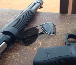 They look like glass aviators, but they exceed ballistic standards.