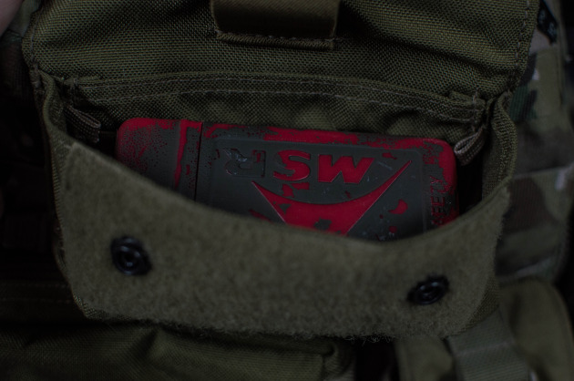 The MSR Pocket Rocket fits perfectly in a General Purpose Pouch.