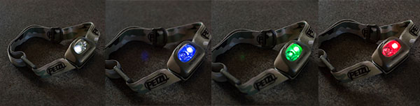 Four color options, one headlamp.