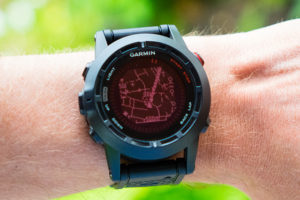 Way points and route display on the Fenix 2