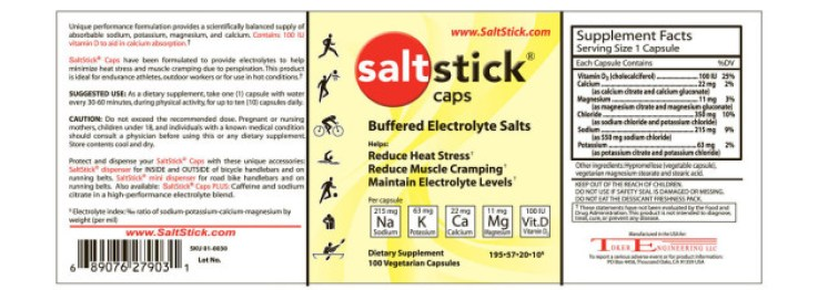 Electrolyte Replacement with SaltStick Caps