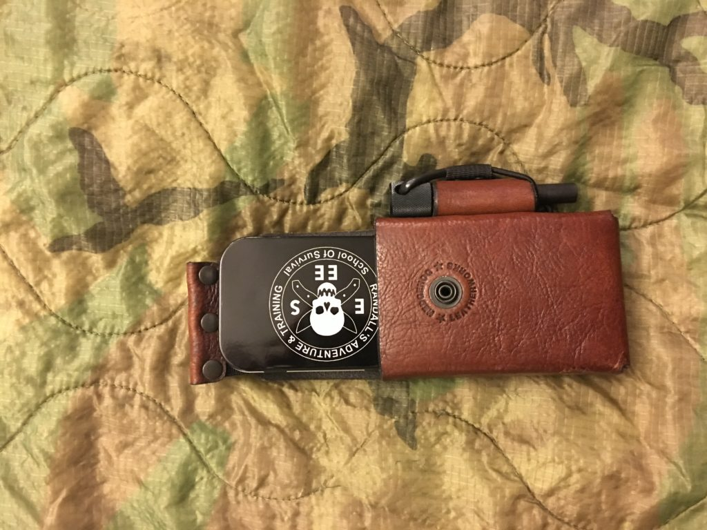 Hedgehog Leather Utility EDC pouch