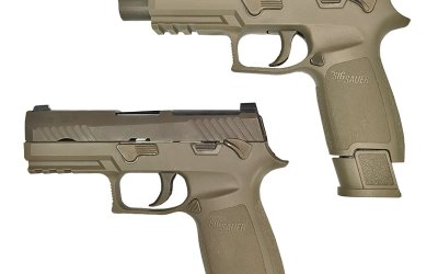 Infographic on the Beretta 92 (M-9) and the Sig 320 (XM-17): U.S. Army Upgrades to the MHS