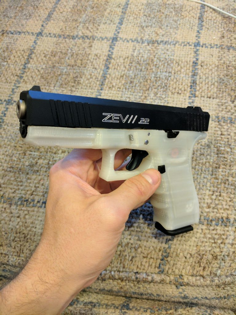 A Translucent,  22 Glock? 3D Printing and Steel Rails - The