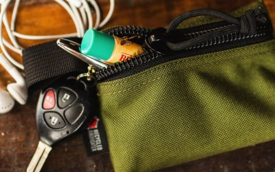 Recycled Firefighter | Truckie Small Zippered Gear Pouch Quick Look