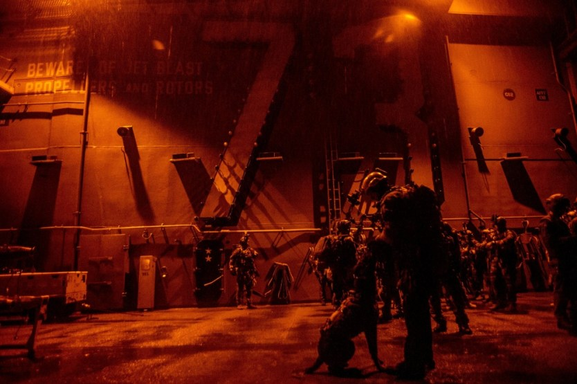 Loadout Room photo of the day   SEALs, Marines use USS George Washington as forward staging base