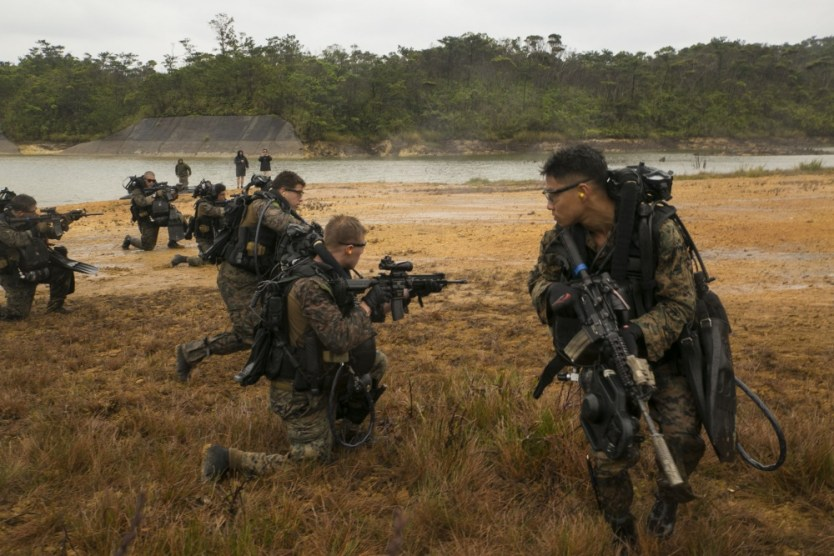 Loadout Room photo of the day: Marines dive toward objective during beach reconnaissance training