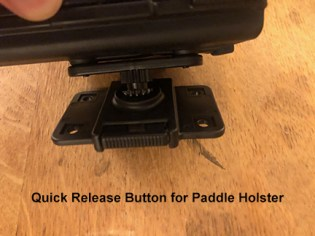 Paddle Holster Quick Release