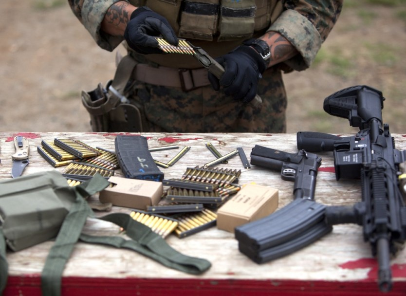 Maintaining marksmanship: Force Recon Marines fire away