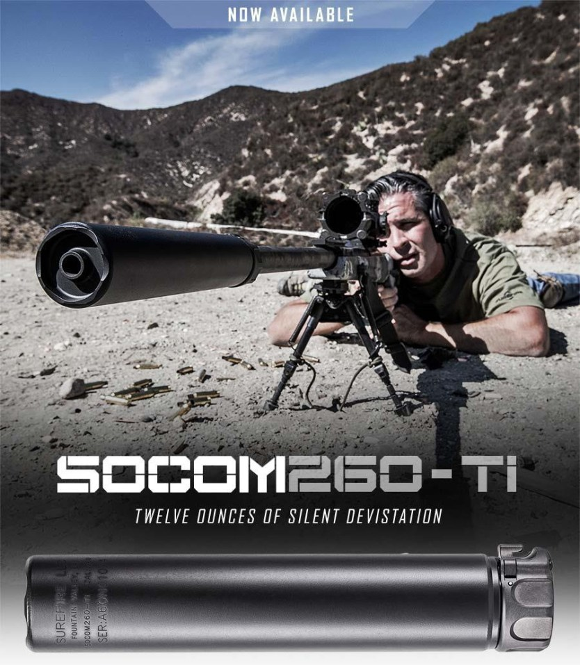 SOCOM260-Ti Suppressor: 12 Ounces of Silent Devistation
