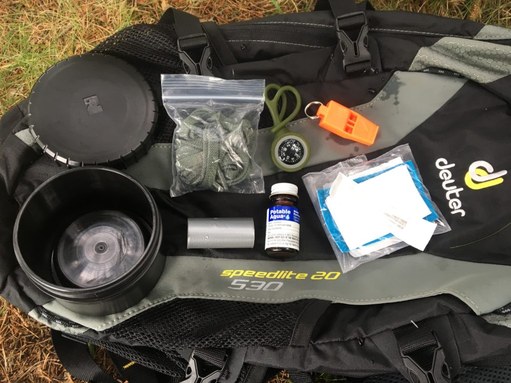 My PACE Lid Loadout | Water Bottle Survival Kit